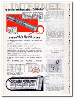 cleveland container company 1948 call screw cap packaging vintage ad