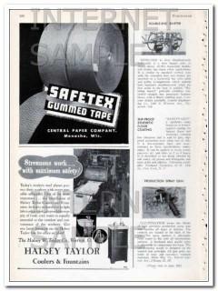 central paper company 1948 safetex gummed tape vintage ad