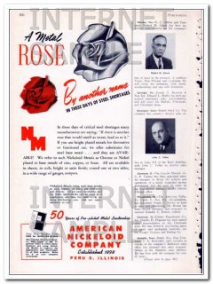american nickeloid company 1948 metal rose steel shortages vintage ad