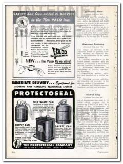 protectoseal company 1948 flammable liquids storing equipmt vintage ad