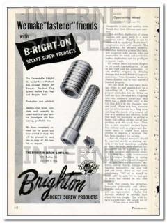 brighton screw mfg company 1948 fastener friends vintage ad