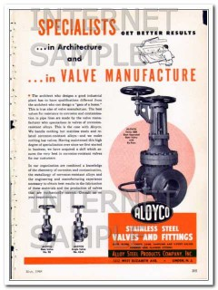 alloy steel products company 1948 specialists valves vintage ad