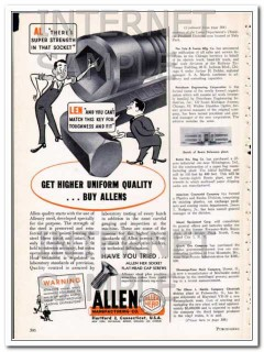 allen mfg company 1948 super strength socket tool vintage ad