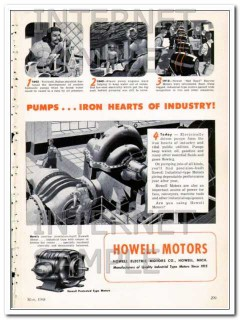 howell electric motors company 1948 pumps iron industry vintage ad