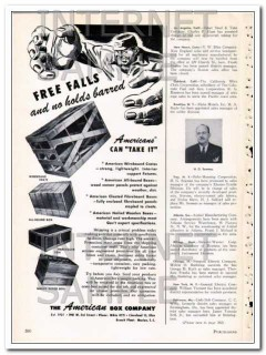 american box company 1948 free falls no holds barred crate vintage ad