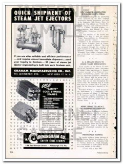 m e cunningham company 1948 steel safety code symbol stamps vintage ad