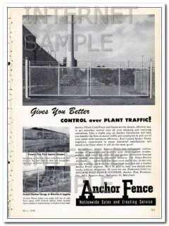 anchor post products inc 1948 control plant traffic fence vintage ad