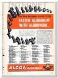aluminum company of america 1948 alcoa fasten aluminum vintage ad