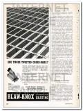 blaw-knox company 1948 see those twisted cross-bars vintage ad