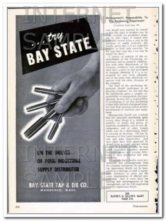 bay state tap and die company 1948 try industrial supply vintage ad