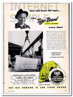 american steel wire company 1948 men who know the ropes vintage ad