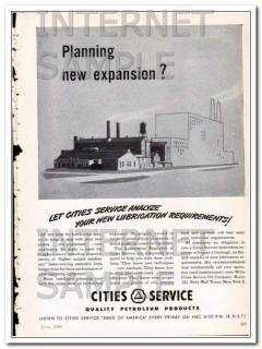Cities Service 1948 Vintage Ad Oil Lubrication Planning New Expansion