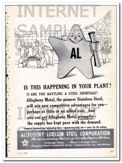 allegheny ludlum steel corp 1948 battling a steel shortage vintage ad