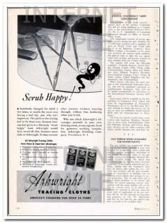 arkwright finishing company 1948 scrub happy tracing cloths vintage ad