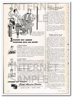armour company 1948 better backstand coated abrasive belts vintage ad