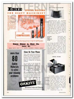 erie bolt nut company 1948 special bolting heavy machinery vintage ad