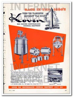 l o koven and brother inc 1948 monument chemical equipment vintage ad