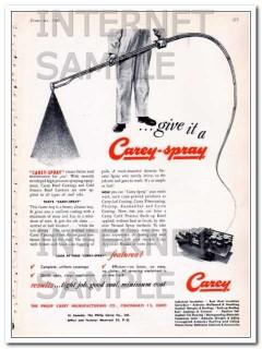 philip carey mfg company 1948 high pressure carey-spray vintage ad