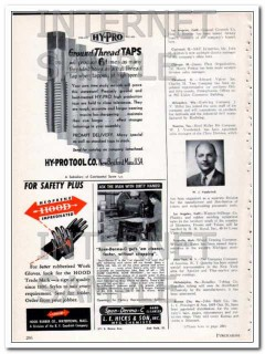 hy-pro tool company 1948 continental ground thread taps vintage ad