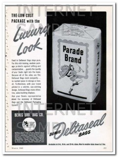 bemis brothers bag company 1948 low cost package luxury vintage ad