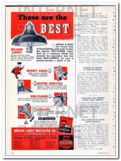 bright light reflector co 1948 the best floodlight units vintage ad