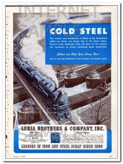 luria brothers company 1948 cold steel collect and ship vintage ad