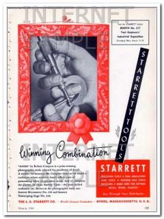 l s starrett company 1948 r comport winning combination vintage ad