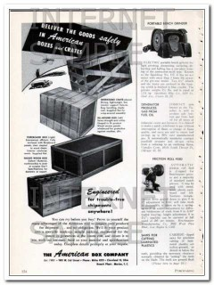 american box company 1948 deliver goods safely boxes crates vintage ad