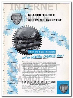 allied chemical dye corp 1948 geared to industry needs vintage ad