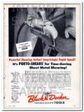 black and decker mfg company 1948 sheet metal porto-shears vintage ad