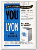lyon metal products inc 1948 steel sheet metal products vintage ad