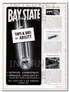 bay state tap and die company 1948 taps and dies of ability vintage ad