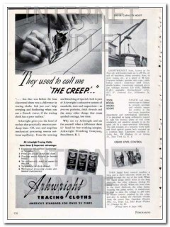 arkwright finishing company 1948 the creep tracing cloths vintage ad