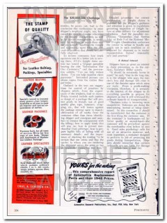 Chas A Schieren Company 1948 Vintage Ad Leather Belting Specialties