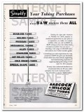 babcock wilcox tube company 1948 simplify tubing purchases vintage ad