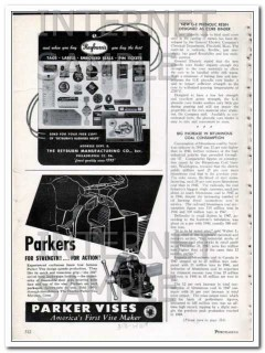charles parker company 1948 for strength action vise vintage ad