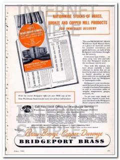 bridgeport brass company 1948 stock brass bronze copper vintage ad