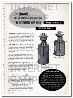 linde air products co 1948 oxweld acetylene generator vintage ad
