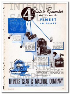 illinois gear and machine company 1948 points to remember vintage ad