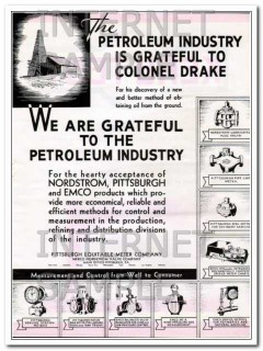 Pittsburgh Equitable Meter Company 1934 Vintage Ad Petroleum Industry
