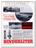 Hinderliter Tool Company 1934 Vintage Ad Oil Field Cable Rotary Tools
