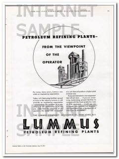 Lummus Company 1934 Vintage Ad Petroleum Refining Plants Viewpoint