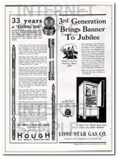 Charles N Hough Mfg Company 1934 Vintage Ad Oil Field Pump Knowing How