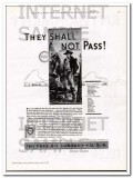 Pure Oil Company 1934 Vintage Ad US Pipeline Co They Shall Not Pass