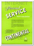 Continental Supply Company 1934 Vintage Ad Oil Gas Service Experience