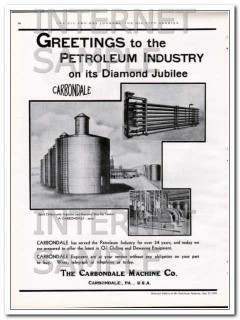 Carbondale Machine Company 1934 Vintage Ad Oil Chill Dewax Equipment