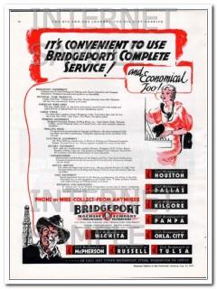 Bridgeport Machine Company 1934 Vintage Ad Oil Field Complete Service