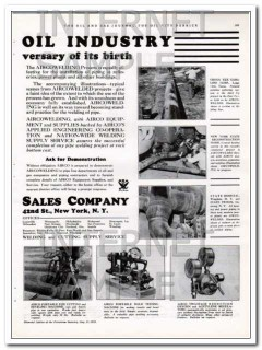 Air Reduction Sales Company 1934 Vintage Ad Oil AIRCO 75th Anniversary