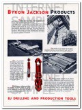 Byron Jackson Company 1934 Vintage Ad Oil Drilling Tools Unexcelled
