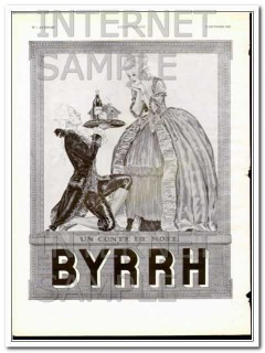 byrrh 1932 christmas drink french aperitif vintage ad